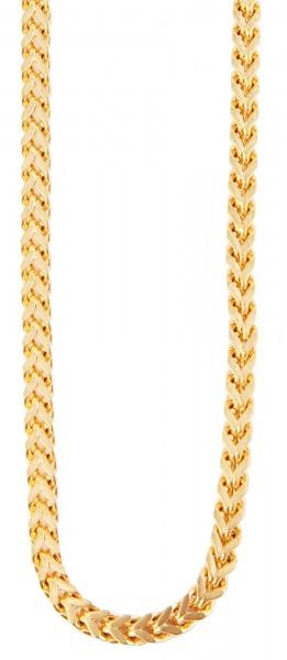 Akzent Edelstahl Damen Zopfkette, Länge: 0 cm / Stärke: 4 mm