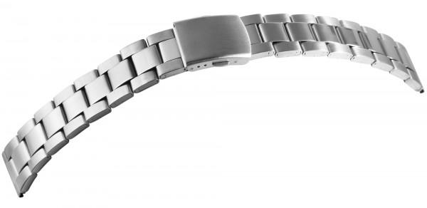 Edelstahl-Uhrenarmband, silberfarben, 18 mm - 22 mm