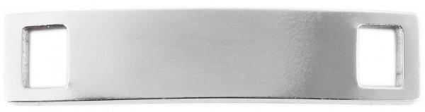 Edelstahl Schnürsenkel Charm, Größe 26,5x6x1,8 mm, graviurfähig