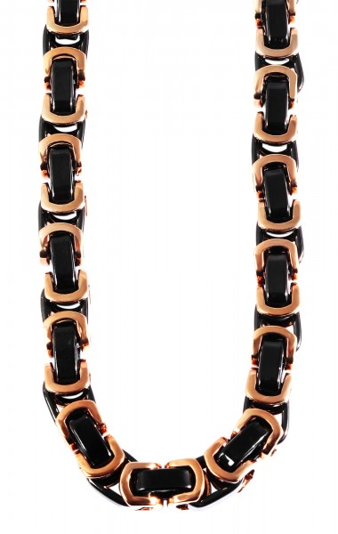 Akzent Edelstahl Unisex Halskette, Länge: 60 cm / Stärke: 6 mm