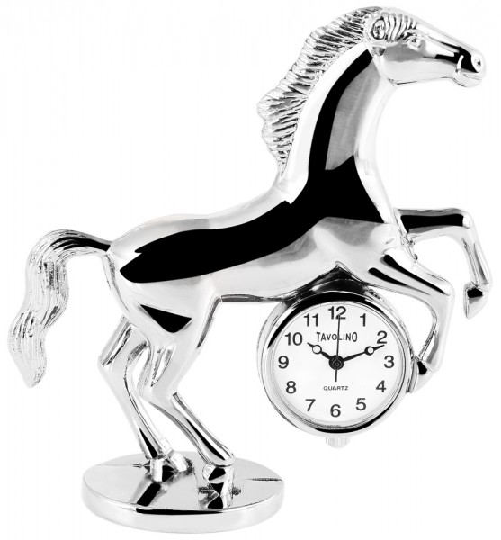 Tavolino Miniaturuhr - Pferd - Größe 7,3 cm